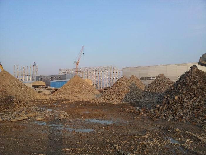 Производство работ по подготовке, сортировке и дроблению железобетонных отходов