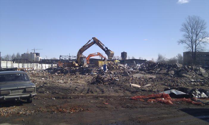 Демонтаж здания и ж/б конструкций