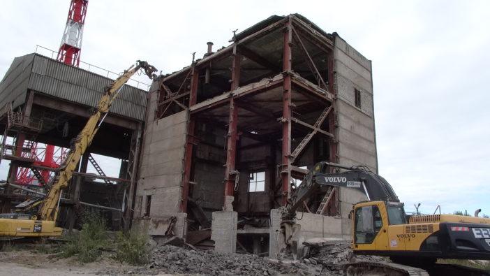 Производство работ по демонтажу конструкций 11-ти аварийных зданий и сооружений