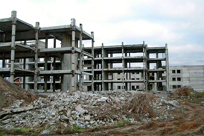 Частичный снос зданий в Таллине, на ул. Казе, 68