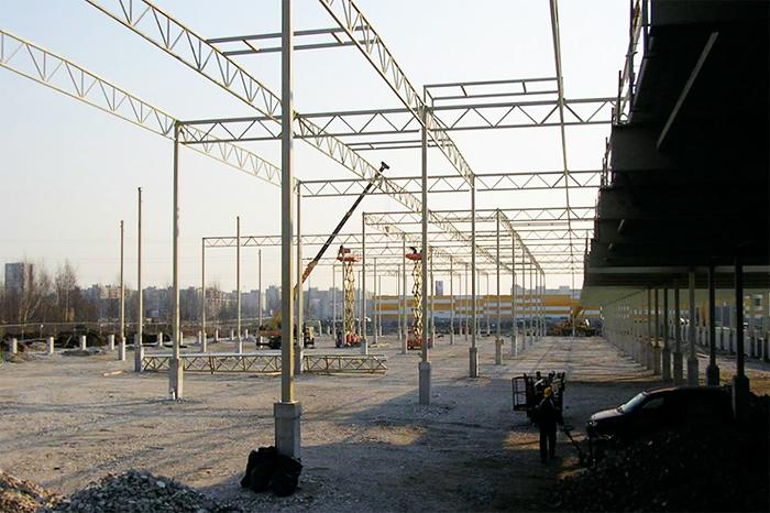 Обратное заполнение и строительство площадок Балтийского центра логистики