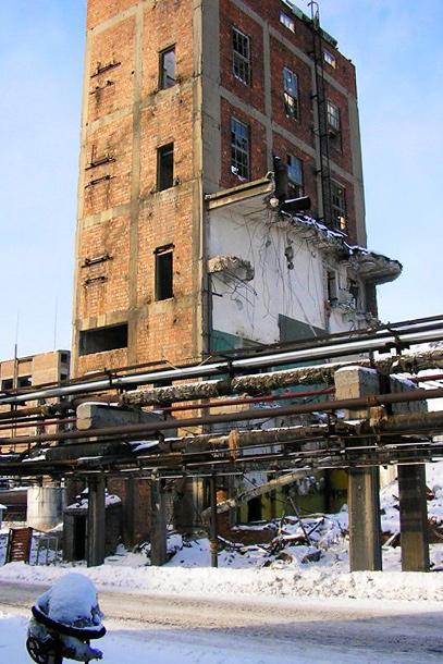 Снос зданий химического комбината VKG в г. Кивиыли