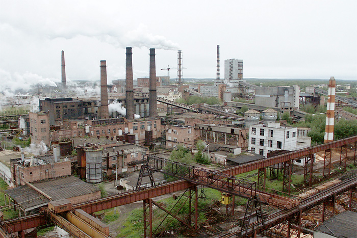 Снос производственных зданий Сегежского ЦБК (Карелия)