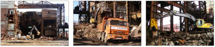 Демонтаж построек Кольской ГМК (г. Мончегорск)