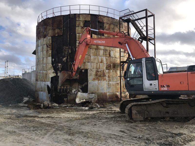 Демонтаж нефтеналивного танка